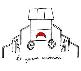 Le Grand Croissant illustratie 261 pixels
